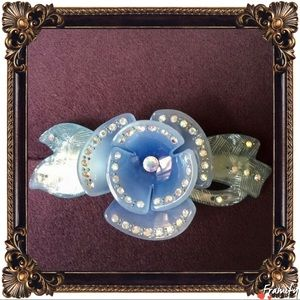 Accessories - Blue Crystal Rhinestone Acrylic Hair Clip